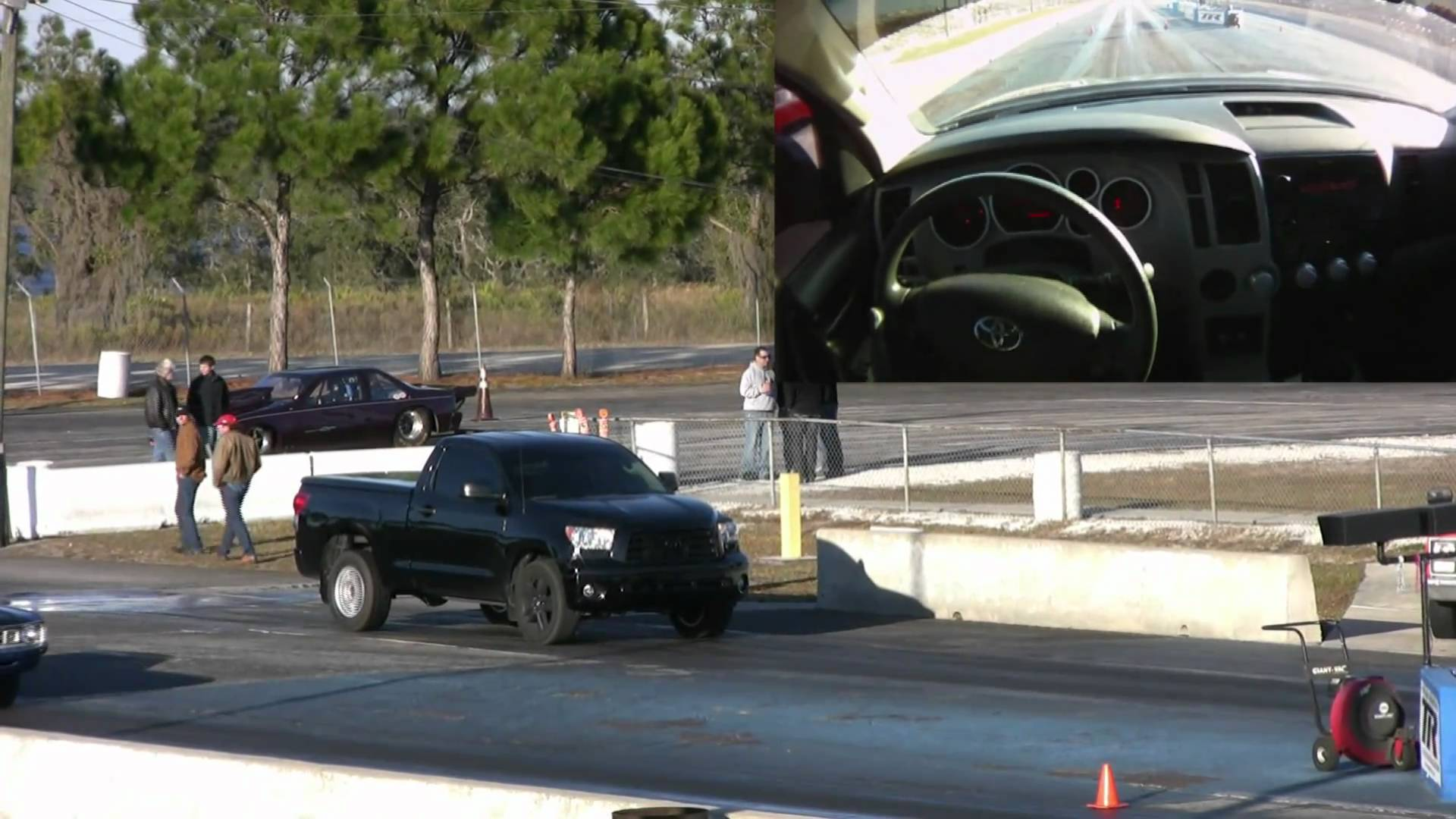 Very Fast Toyota Tundra Thrashed A Muscle Car On A Drag Strip