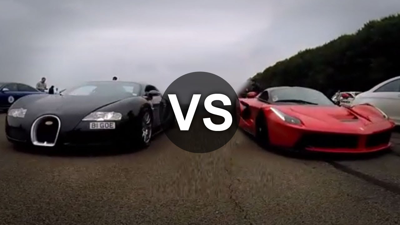 LaFerrari Vs Bugatti Veyron Drag Race! Which One Is Your Bet?