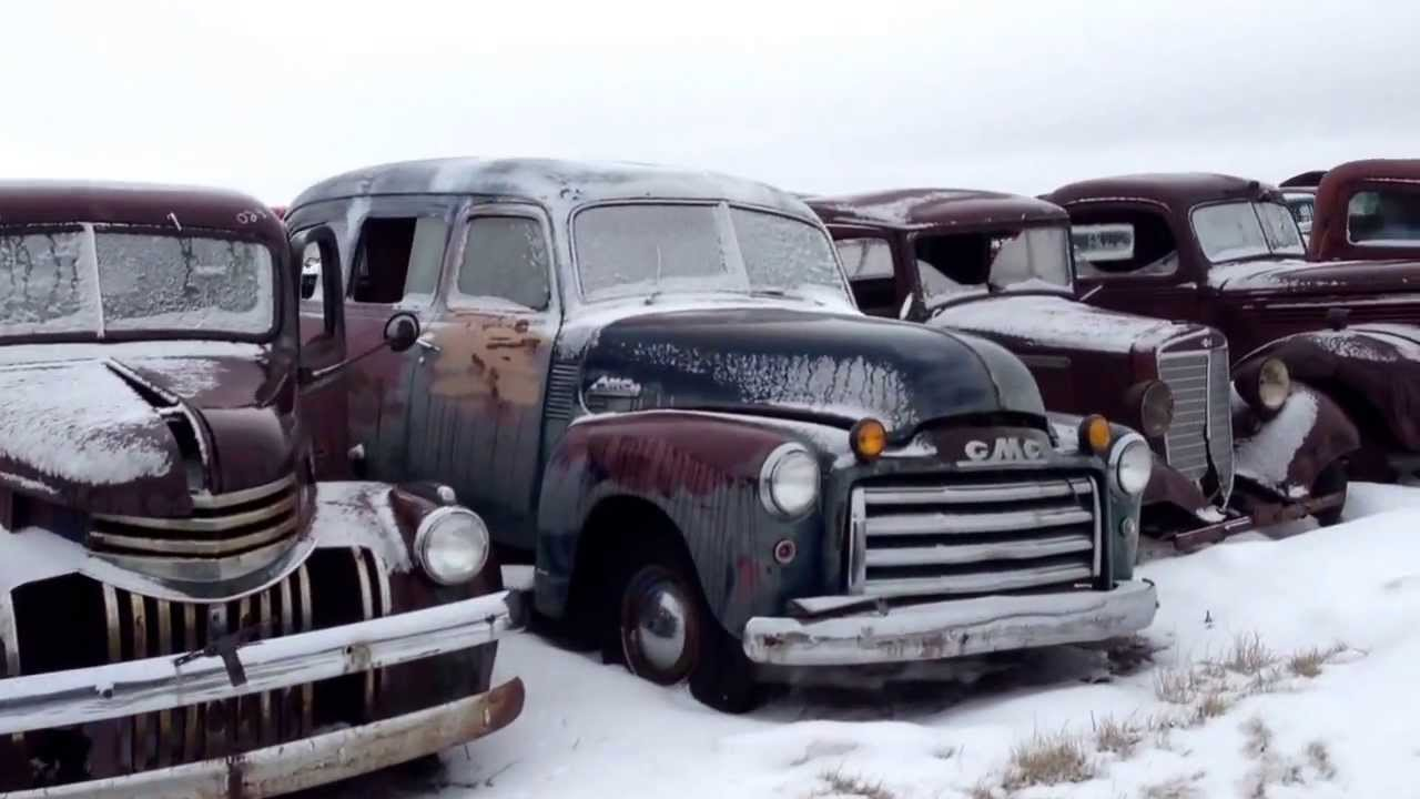 Classic Car Trucks Old Time Junkyard Rat Rod or Restorer Dream ...