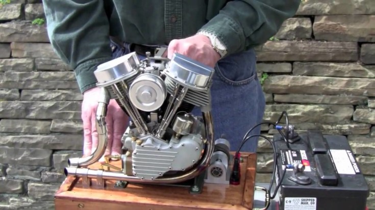 AWESOME Scale Model Harley Engine That WORKS!!!