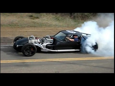 Hot Rod Performs An Exhibition Burnout For Our Eyes Only