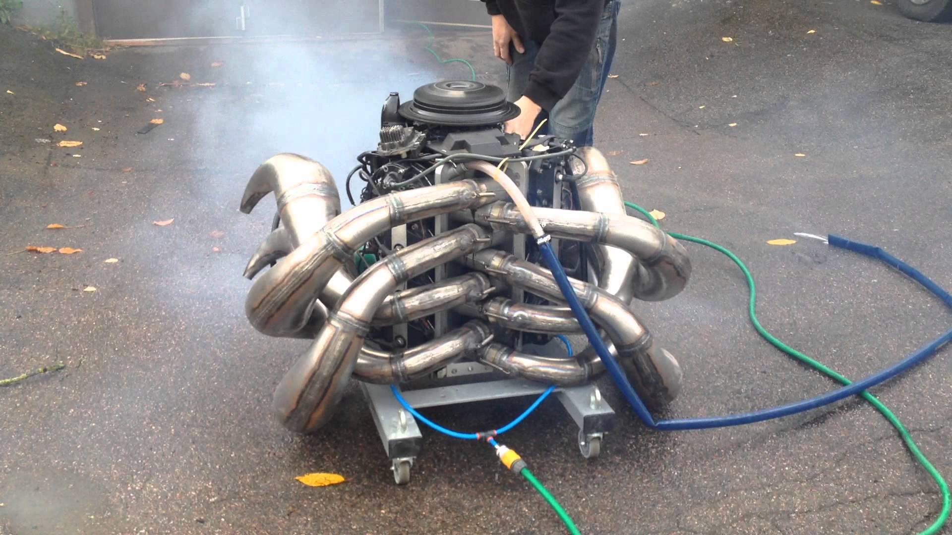 This Rumbling Outboard Engine Is Set To Make One Volvo A Crazy Drag