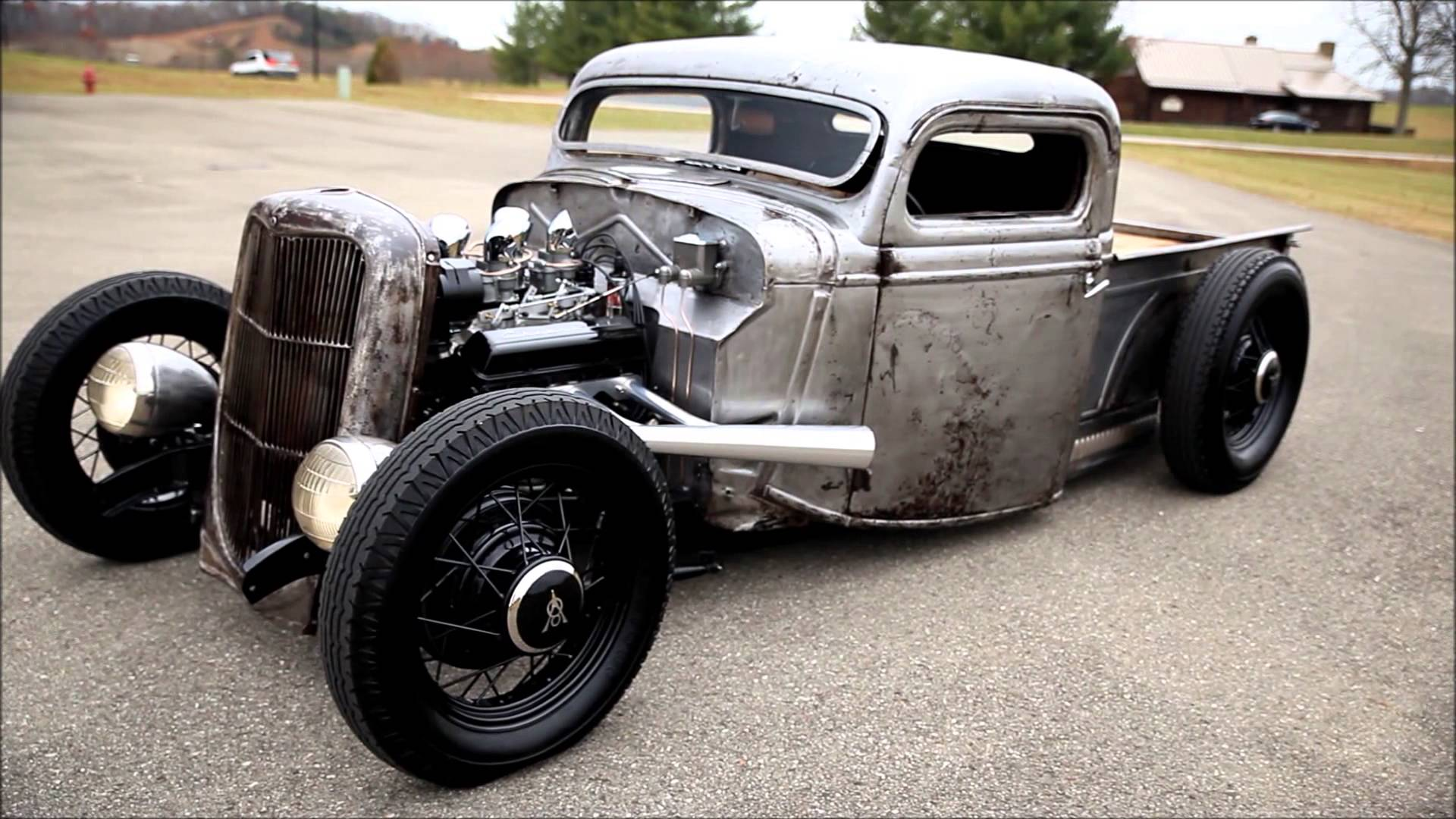 Cherry Looking Raw Metal 1935 Ford Truck Rat Rod
