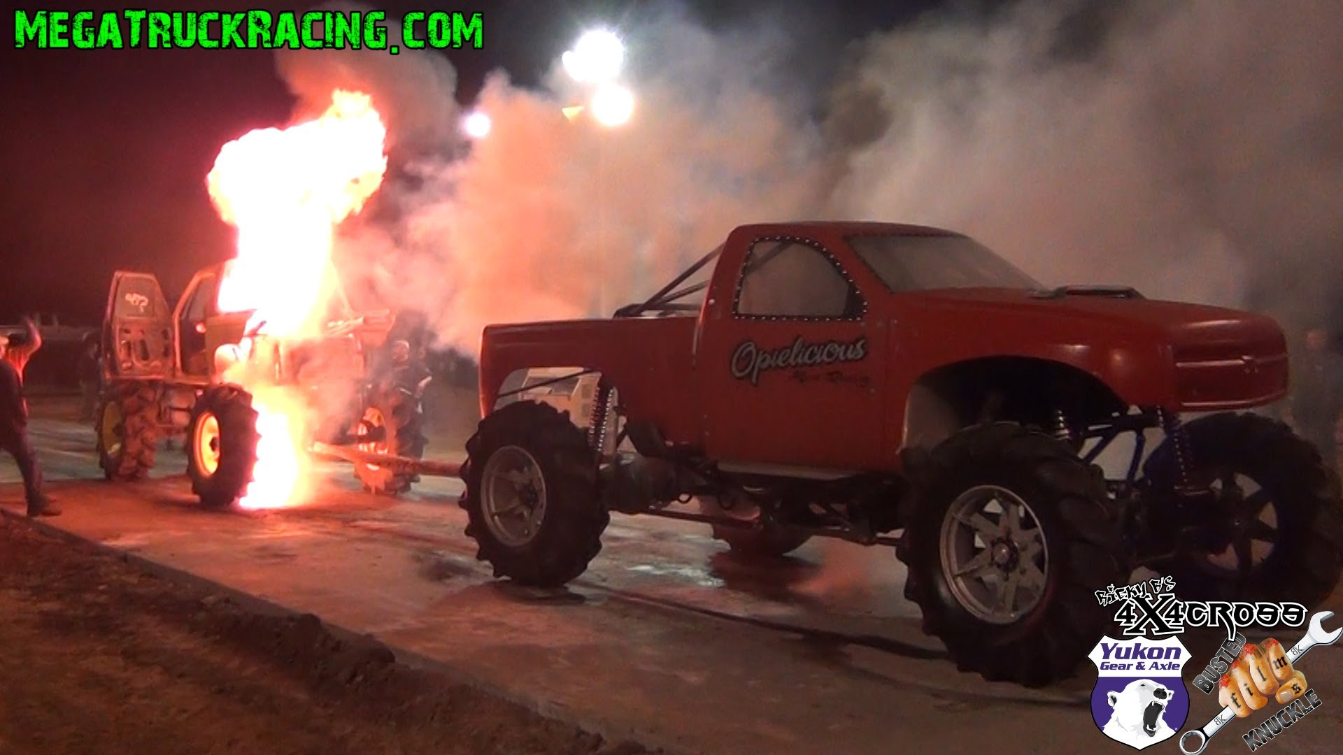 It Was Literally A Baptism Of Fire For The Monster Truck