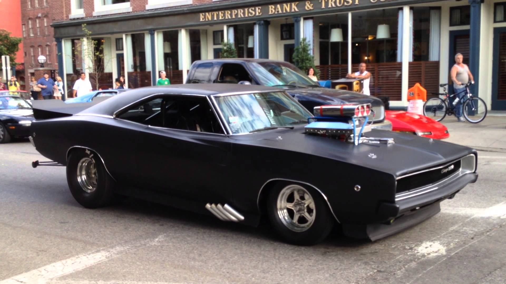 Fierce Matte Black Dodge Charger Showing Off It S Pure Muscle