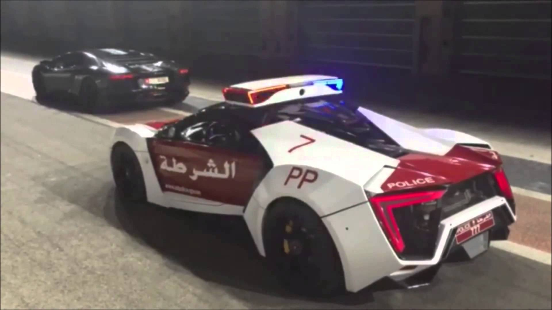 Lamborghini Aventador Challenges A Lykan Hypersport Police Car On The Streets Of Abu Dhabi