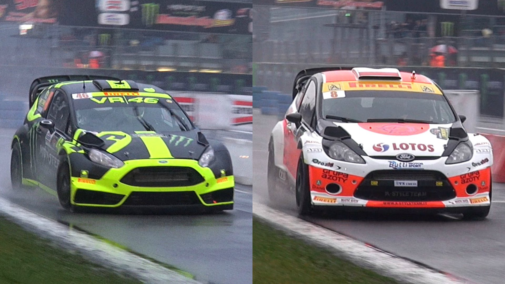 VALENTINO ROSSI Races Robert Kubica In A RALLY CAR!!!