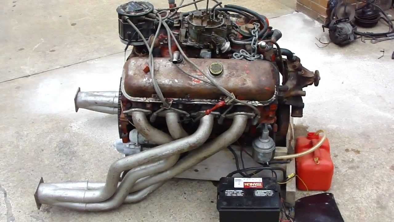 All Chevy chevy 216 engine : Big Block Chevy 454 Engine Runs For The First Time After 10 Years!