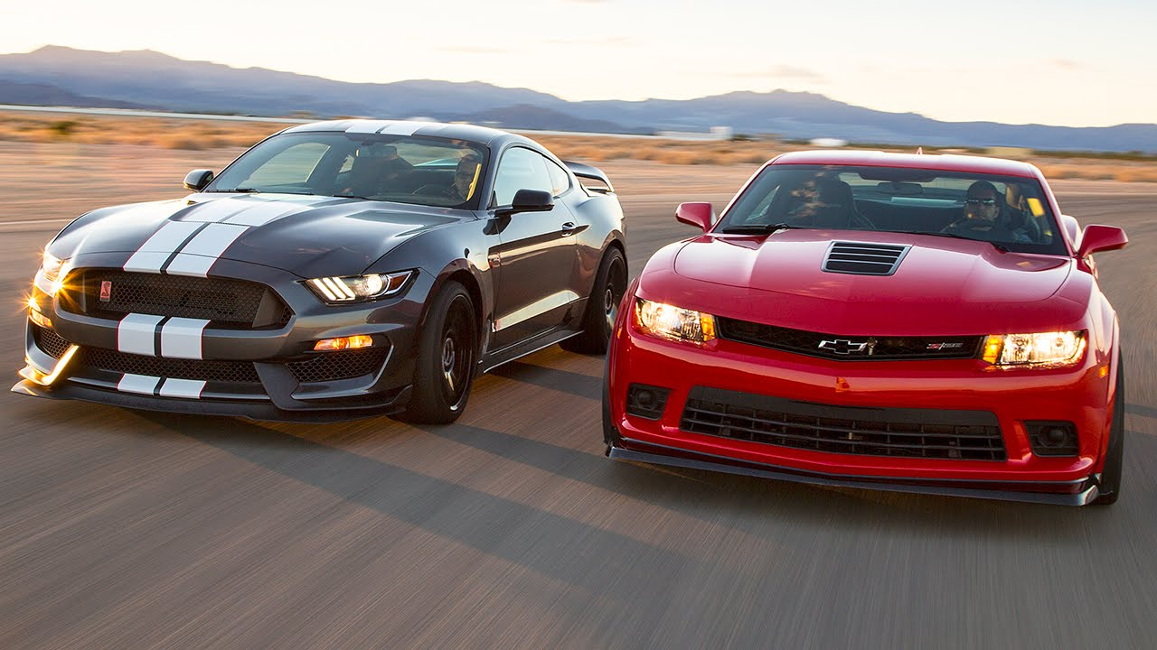 Ultimate Muscle Car Shootout Between The 2016 Ford Mustang Shelby ...