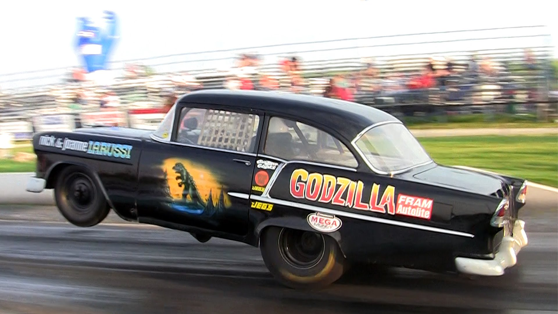 Modified Classic Chevy Dominates The Strip At This EPIC Hot Rod Event!