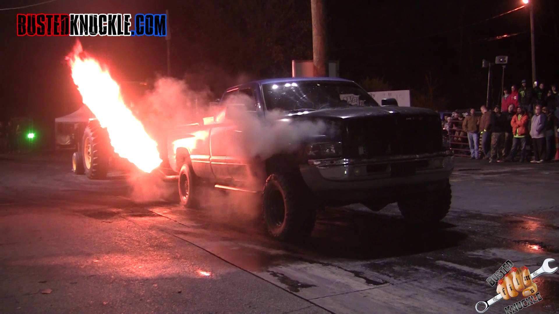 INSANE Diesel Burnouts Let Out Flames During This INSANE All
