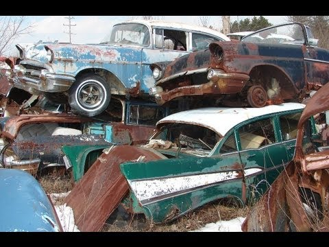 Take A Closer Look To This Huge Classic Car Junkyard