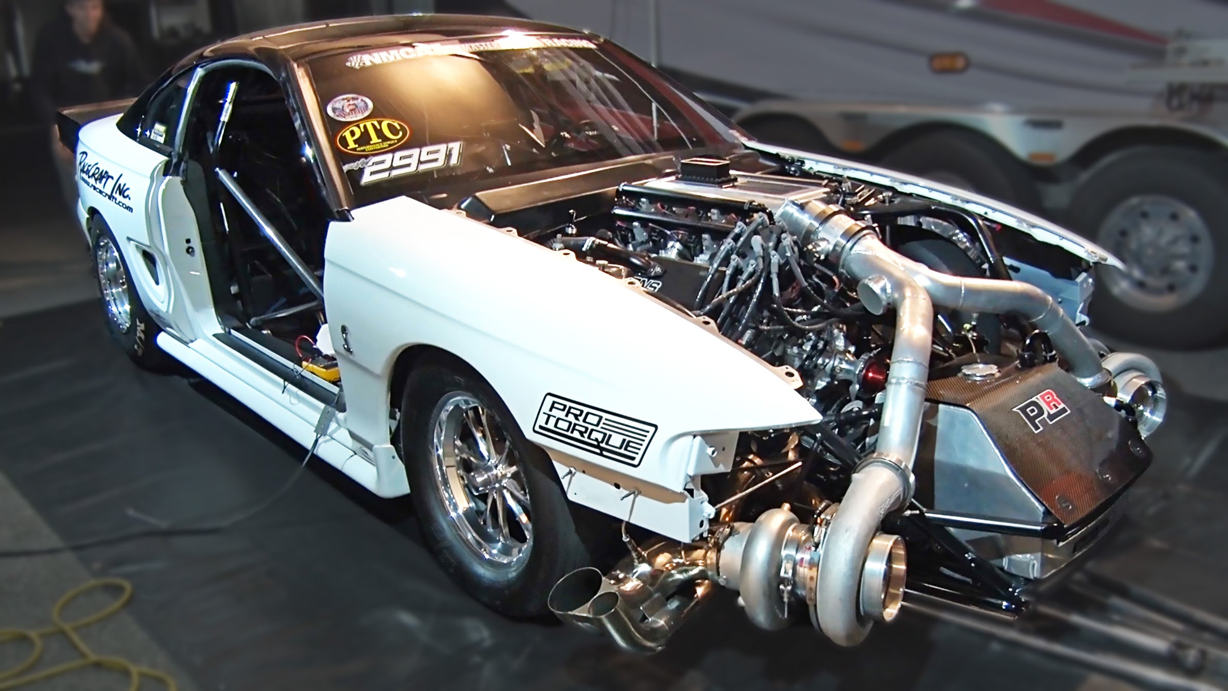 This Twin Turbo Ford Mustang With INSANE 102mm Turbochargers