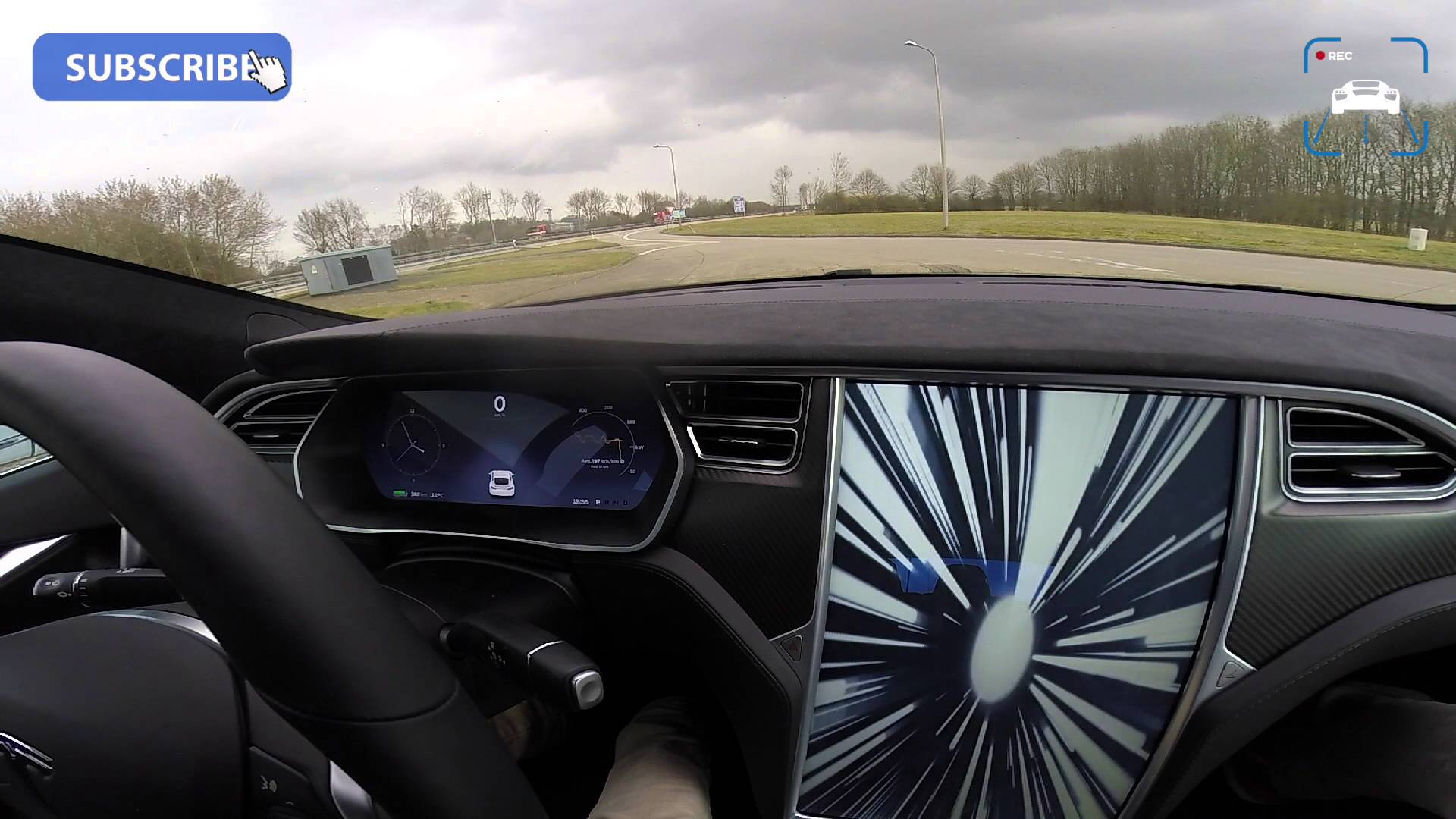 2016 Tesla Model S P90D LUDICROUS Autobahn Acceleration And Top Speed