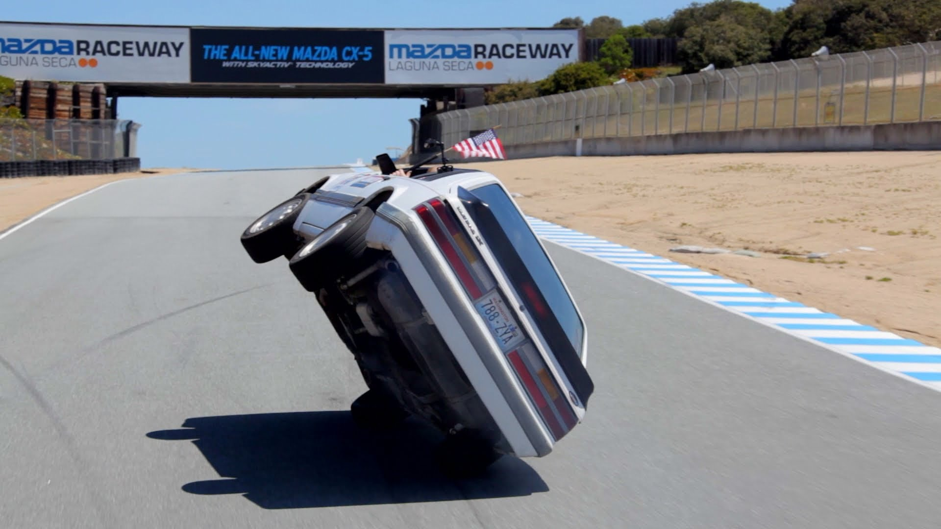 A Two Wheel Lap Around Laguna Seca Race Track In A Fox Body Mustang