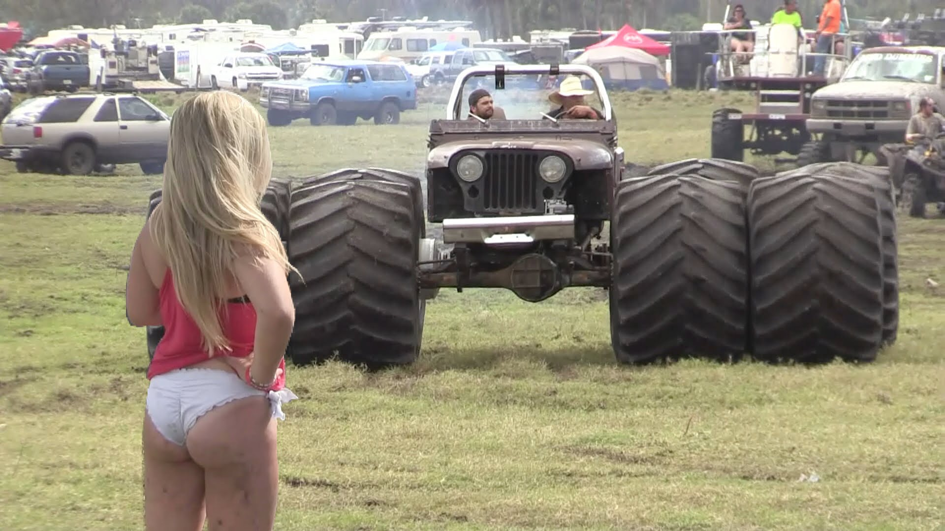 Redneck Mega Trucks Haul Ass In This Mud Race For The Win
