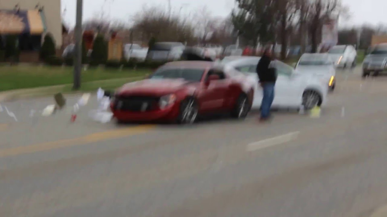 mustang launches and crashes earning chicago cars and coffee another victim Chicagocars And Coffee