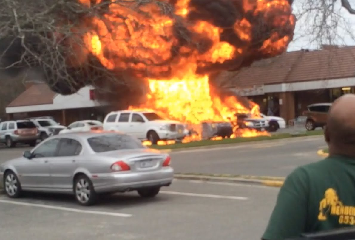 Causing A Huge Car Explosion Is A Surefire Way To Get Rid