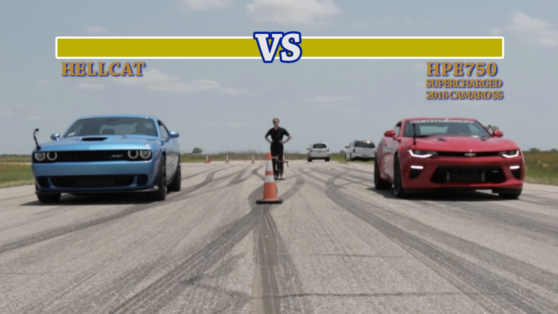 Challenger Hellcat Vs 751 Hp Hennessey Camaro Ss The Funny Street Fighter Take