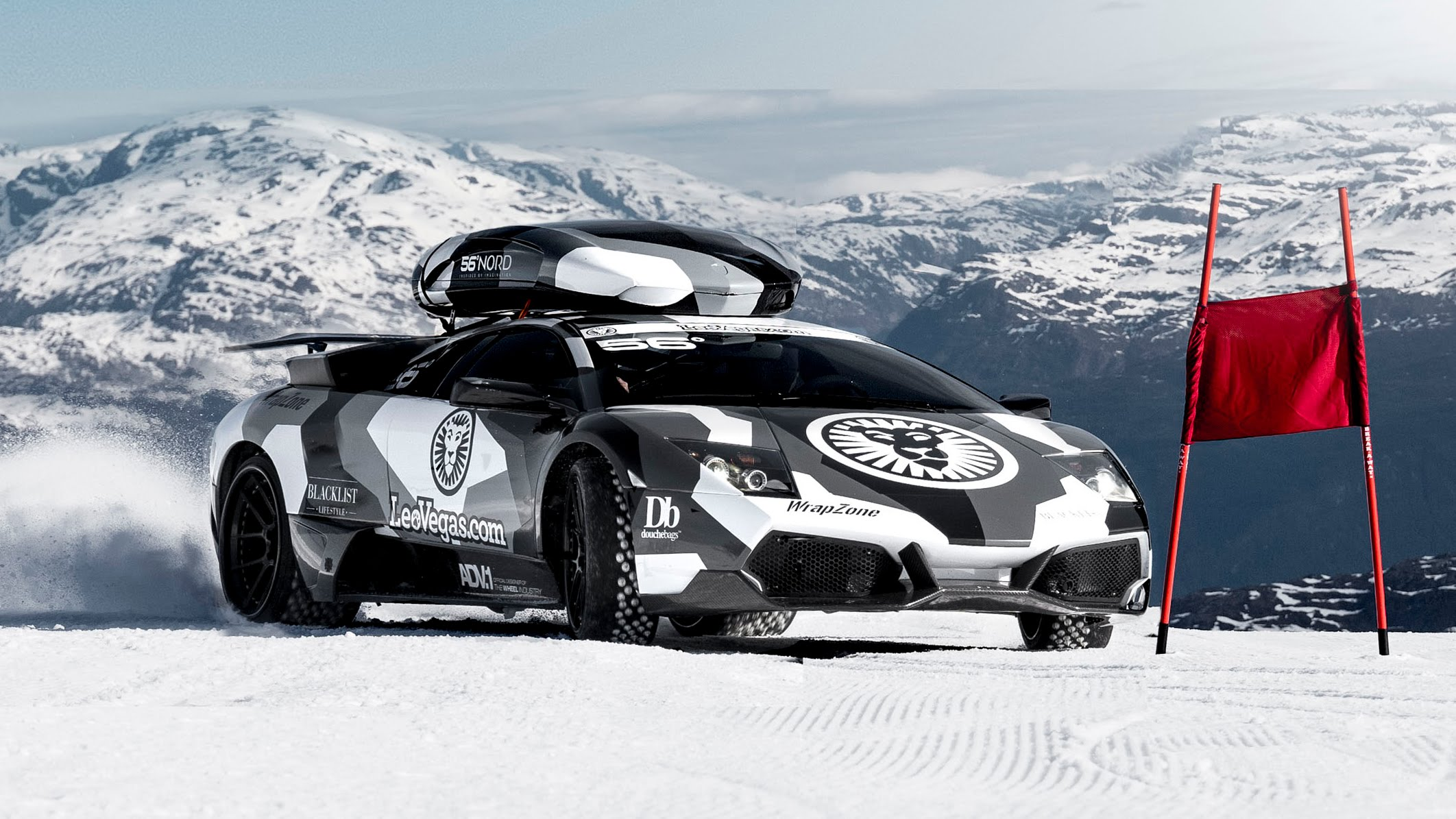 Must Watch Video Crazy Red Bull Driver Races Lambo On Glacier And