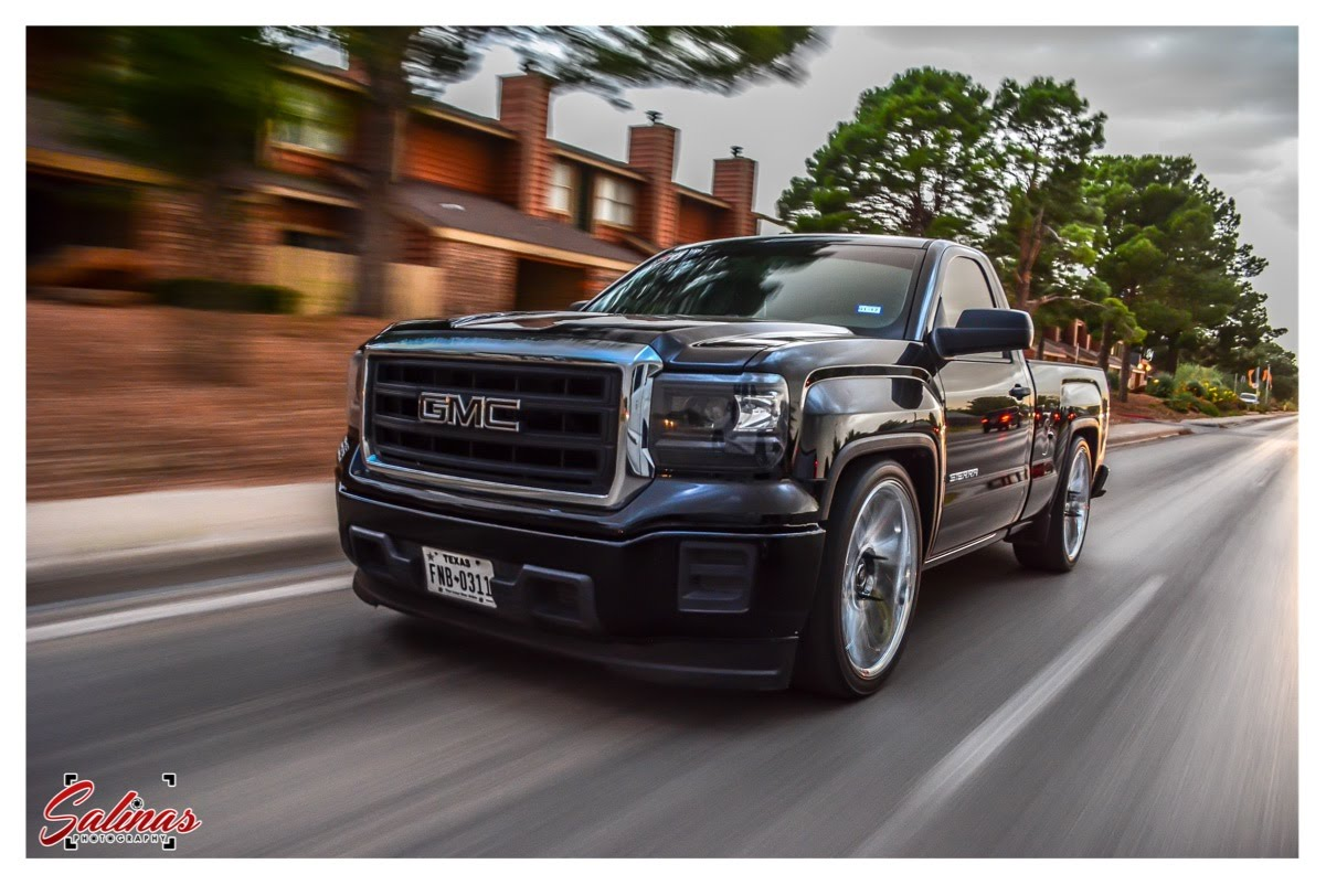 dropped 2015 gmc sierra single cab on 24s dub swervs does a badass burnout. Black Bedroom Furniture Sets. Home Design Ideas