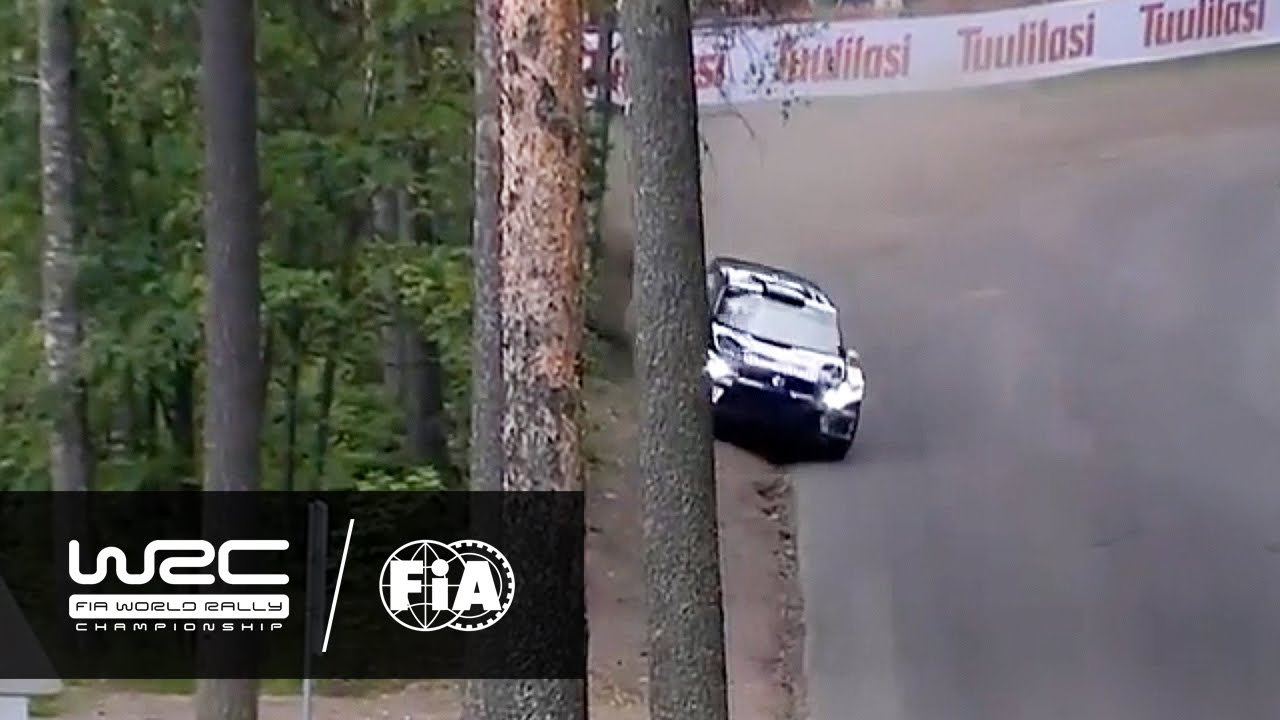 WRC Drivers Slam Tractor Chicane On Rally Finland Stage
