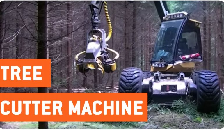 Check Out This Incredible Tree Cutting Machine!
