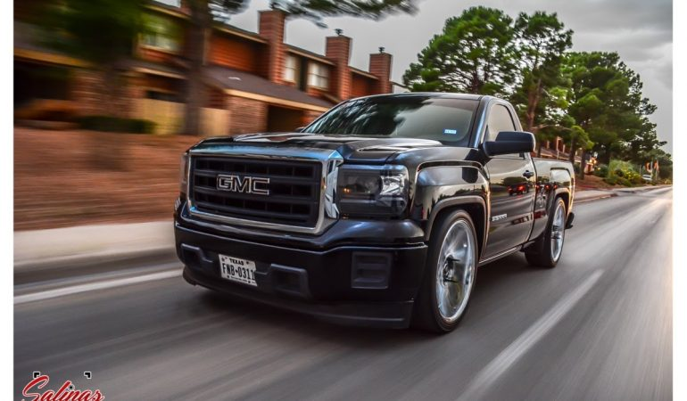 Lowered Dodge Ram 1500 >> Dropped 2015 Gmc Sierra Single Cab On 24s DUB Swervs Does A Badass Burnout!